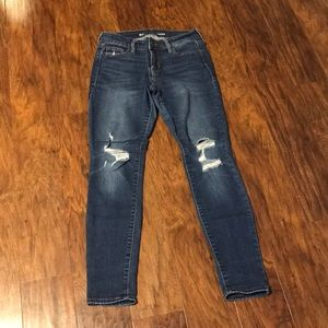 Old Navy | Rockstar Mid-Rise Denim Ripped Jeans